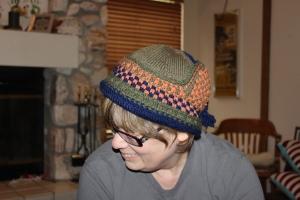 Faux Earflap Hat front